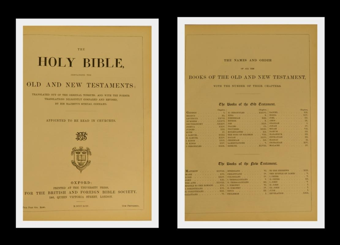 Large KJV Holy Bible With Clasp, Colored Maps, Fine Leather Binding