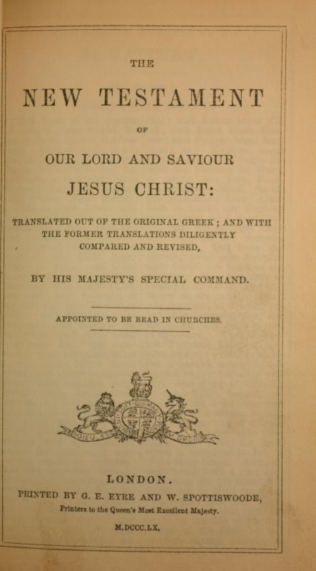 1860 Miniature Church Services, Prayer, New Testament, Leather, Brass Clasp & Banding