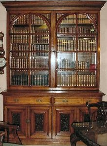 Monumental Victorian English Walnut Bookcase