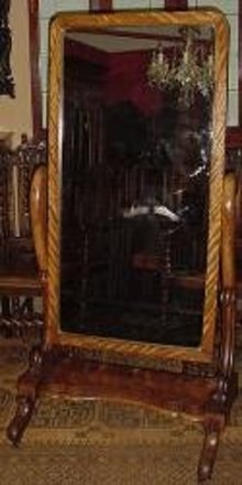 Victorian English Mahogany Cheval Mirror