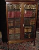 Gothic Style English Mahogany Bookcase On Stand, 1830