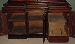 Early Victorian English Mahogany Bookcase