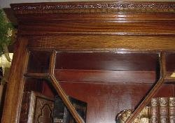 Solid Mahogany Bookcase from The Bank Of England
