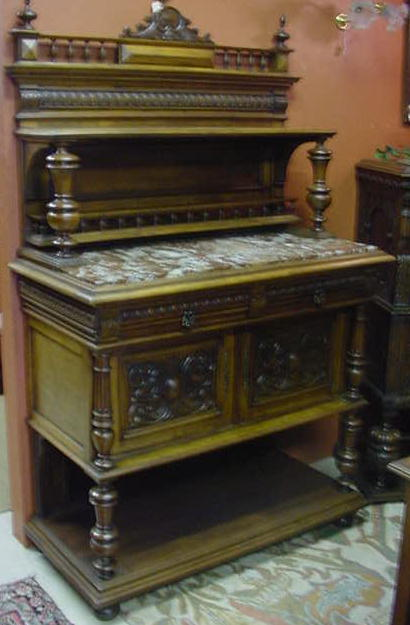French Marble Top Server
