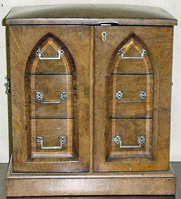 Antique English Pollard Oak Cigar Box, 1870