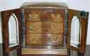 Antique English Pollard Oak Cigar Box, 1870