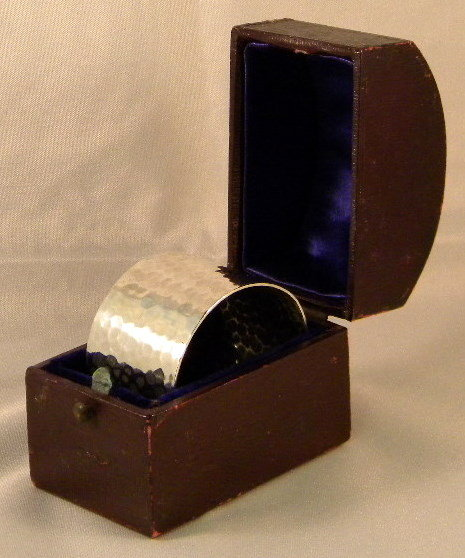 Sheffield Sterling Silver Napkin Ring In Original Box, 1932