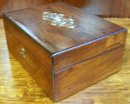 Inlaid Rosewood Victorian Traveling Box, 1860