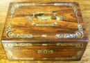 Rosewood Victorian Vanity Box, Exquisite Inlays of Abalone & MOP