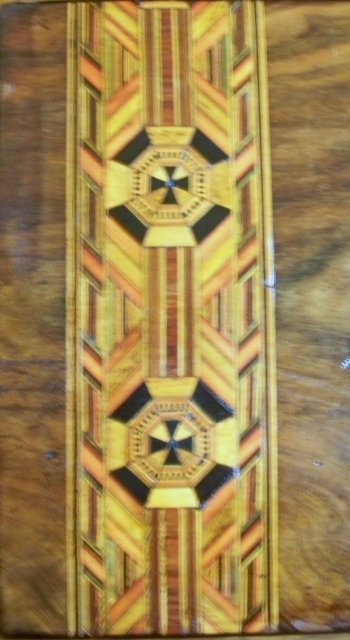 English 19th Century Tunbridge Ware Inlays of Crusaders Cross, 1870