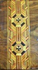 English 19th Century Tunbridge Ware Inlays of Crusaders Cross, 1870