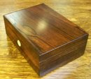 Antique English Rosewood Jewel Box, 1870