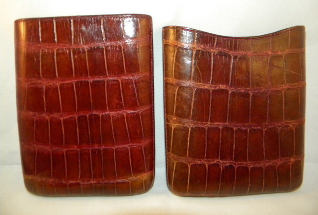 English Edwardian Cigar Case In Crocodile Leather, c1920