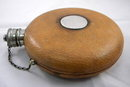 Antique Round Leather Flask, Scotland,c1890