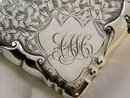 English Art Nouveau Sterling Silver Calling Card Case