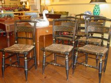 Late Federal Painted & Gilt Decorated Side Chairs