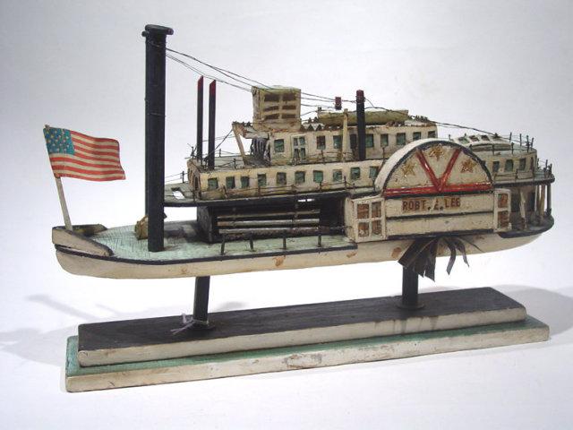Folk Art  Model of Paddlewheeler