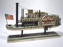 Folk Art  Model of Paddlewheeler