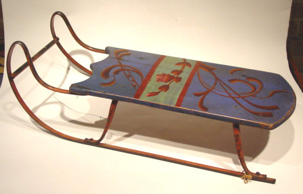 Blue Floral Design Sled