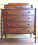 Sheraton Mahogony Bowfront Chest of Drawers
