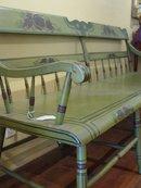 Stencilled Bench