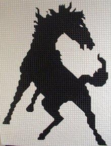 Vintage Horse Mosaic Signed 1968 Large Piece