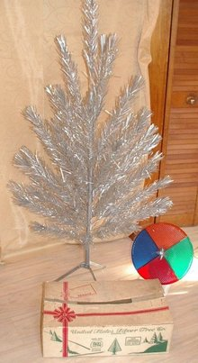 antiques art vintage - Vintage Silver Christmas Tree