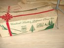 Vintage Christmas Tree Silver with Color Wheel in Box