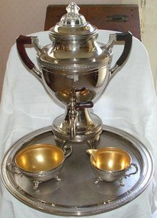 Manning Bowman Samovar Coffee Maker Set