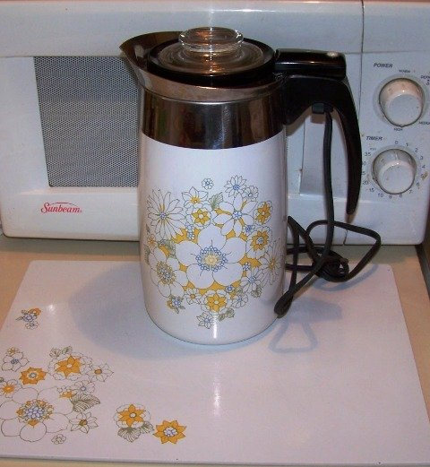 Corningware Electric Percolator Spring Bouquet