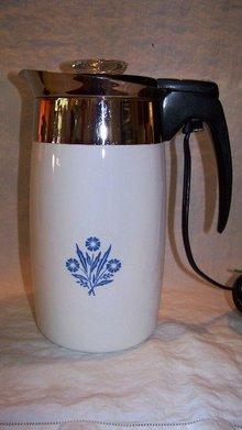 Corningware Electric Percolator Corn Flower Blue