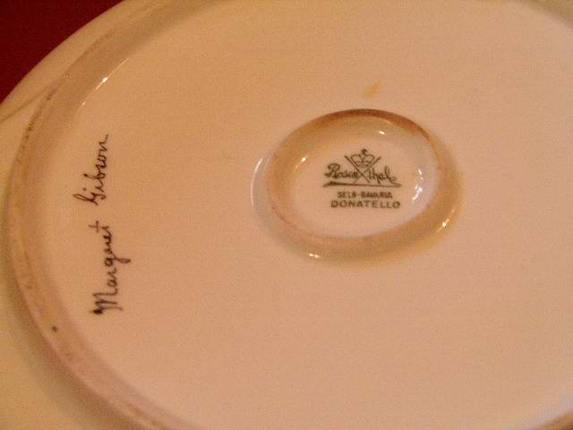 Rosenthal Bavarian Relish Tray Signed Margaret