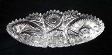 Cut Glass Pickle Dish