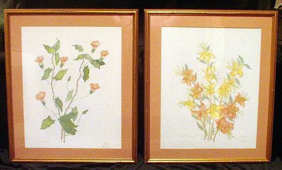 Pair of Watercolors Signed Moran