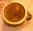 Vintage Cream and Sugar with Lid Green Japan