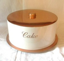 Cake Saver by Deco Ware Copper and White