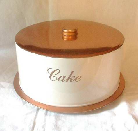 Cake Saver by Deco Ware Copper and White