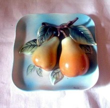 Pears Wall Plaque by Napco Japan 5