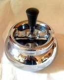 Cool Looking Vintage Chrome Smokeless Ashtray