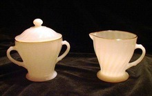 Vintage Anchor Hocking Cream and Sugar