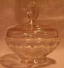 Depression Glass Powder Jar with Lid