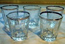Federal Shotglasses Ribbed with Gold Trim