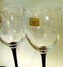 Luminarc Black Stemmed  Water or Wine Goblets