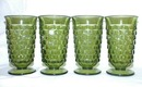 Whitehall by Colony  Green Iced Tea Footed Tumblers