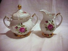 Bavarian Creamer and Sugar Bowl with Lid