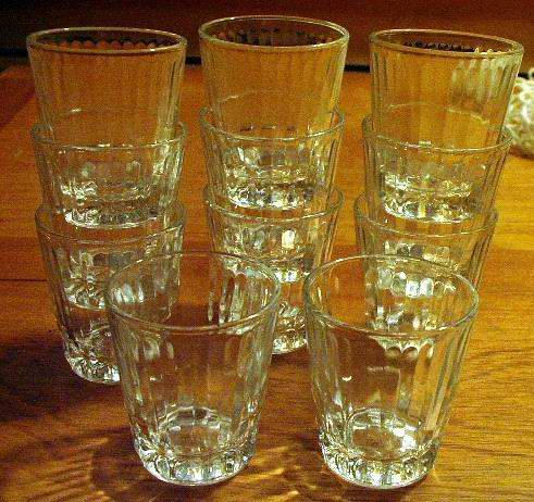 Eleven Shot Glasses or Toothpick Holders by Federal