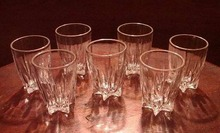 Seven Shot Glasses or Toothpick Holders by Federal