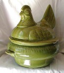 California Pottery Hen on Green Nest Cookie Jar