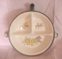 Baby's Food Dish by G.W. Co. with Heat Spout