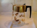 Douglas Flameproof Coffee Pot Gold Leaf